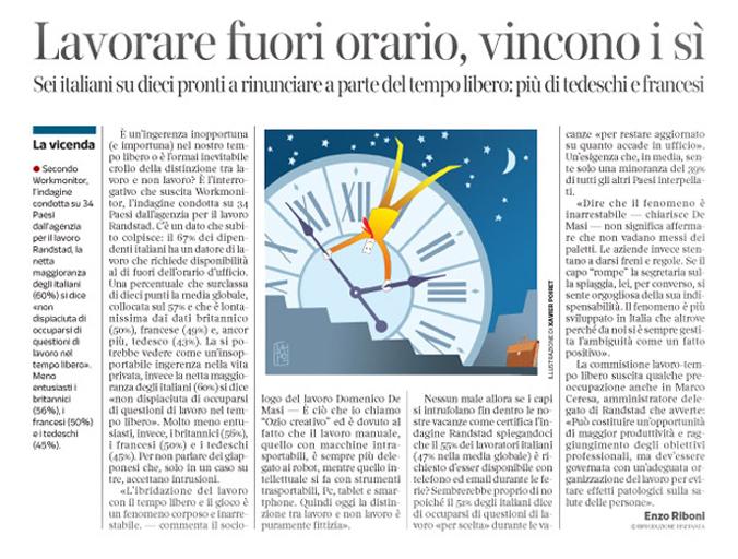 Corriere Economia - Lavoro fuori orario - 14.07.15