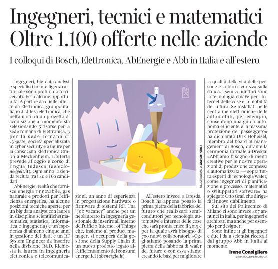 262 - Corriere Economia - assunz. x ingegneri e tecnici hi-tech - 17.07.18 - pp.39