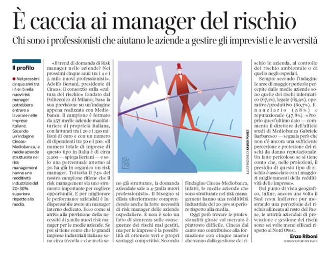 Corriere Economia - Risk manager - 16.06.15