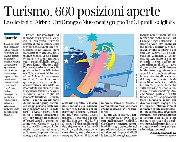 298 - Corriere Economia - professionisti di turismo e digitale - 11.06.19 - pp. 47