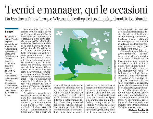Corriere Economia - assunzioni in Lombardia - 04.04.17 - pp.43