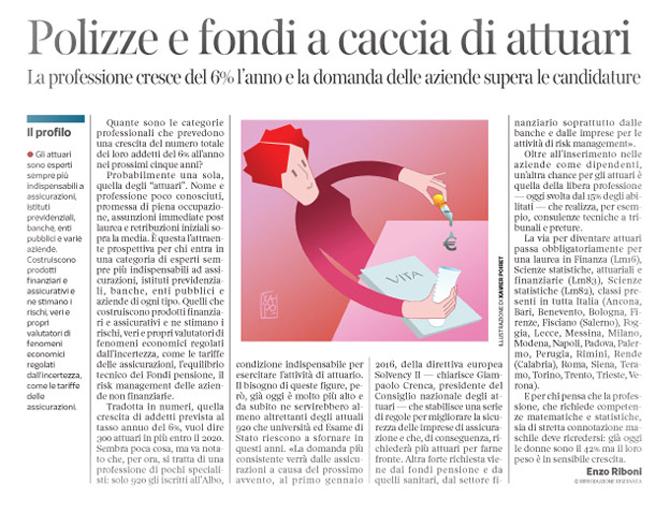 Corriere Economia - Professione Attuario - 7.07.15