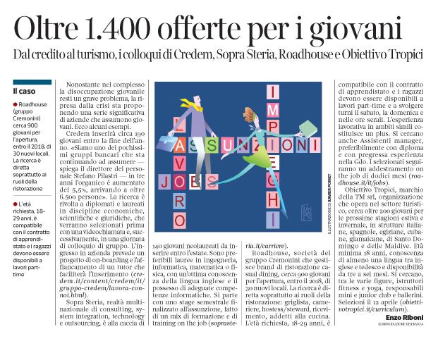 248 - Corriere Economia - assunzioni per giovani -  27.03.18 - pp.39