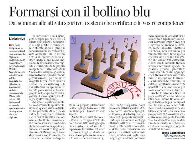 Corriere economia - nuova certificazione online  - 2.02.16 - pp.31 -