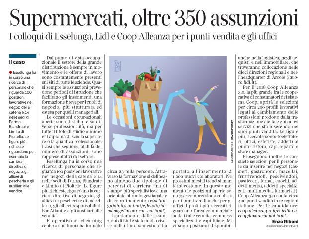 236 - Corriere Economia - assunzioni nei supermercati - 21.11.17 - pp.41
