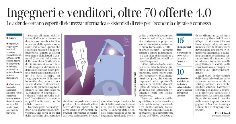 Corriere Economia - Intelligenza artificiale. Specialisti cercasi - 6.06.17 - pp.31