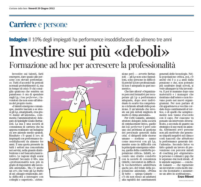 Corriere Economia - 29.06.12 - Low performers
