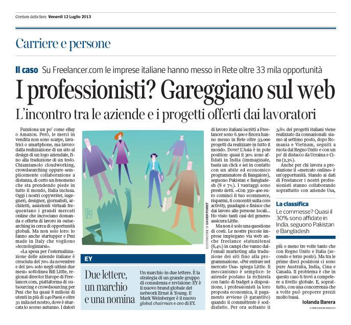 Corriere Economia - 12.07.13 - Collaborazione a distanza