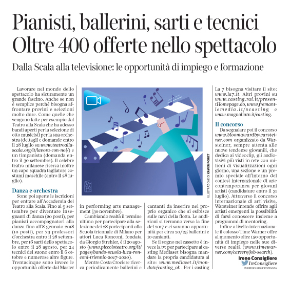 Corriere Economia - Showbizjobs - 18.07.17 - pp.33
