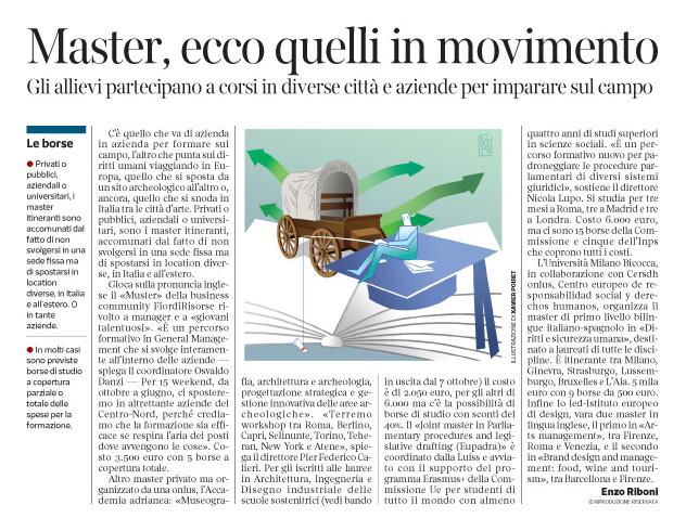 Corriere Economia - masters itineranti - 20.09.16