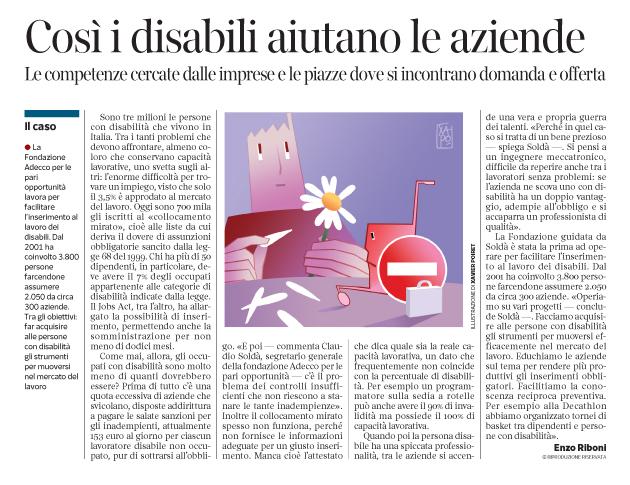 Corriere Economia - disabilità e lavoro !!... 20.12.16 - pp.41