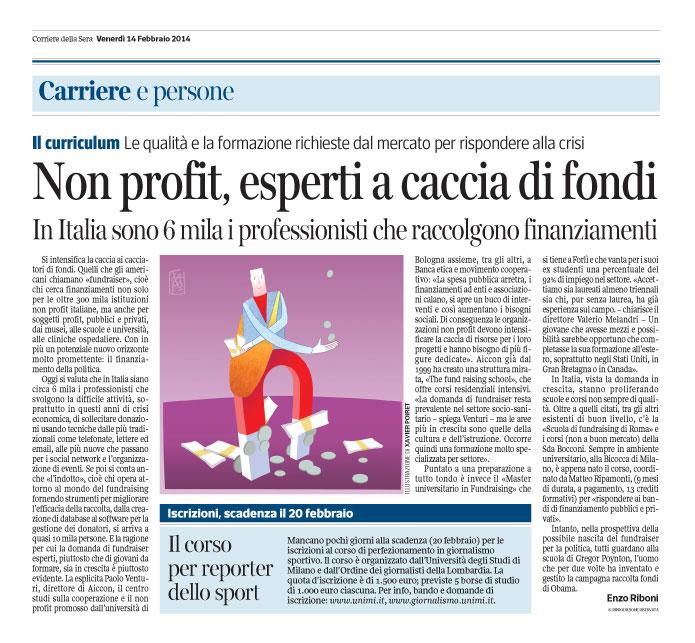 Corriere Economia - 14.02.14 - Fundraisers