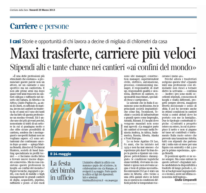 Corriere Economia - 29.03.13 - Professione trasfertista