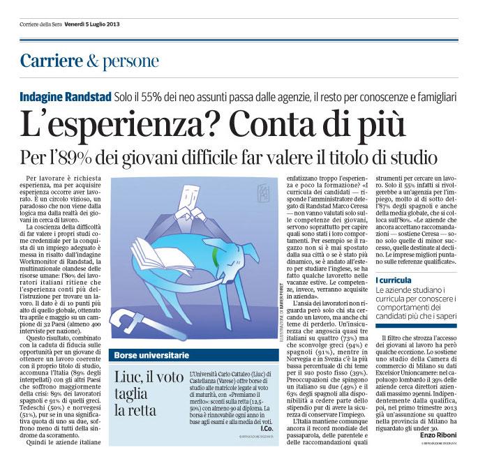 Corriere Economia - 05.07.13 - Il cane che si morde la coda