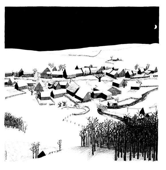 8 - La luna illumina il villaggio