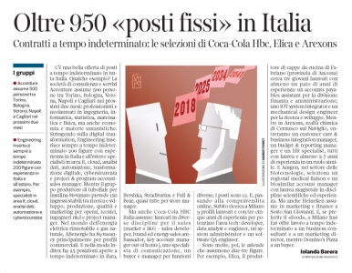 245 - Corriere Economia - assunzioni a tempo indeterminato- 27.02.18 - pp. 30