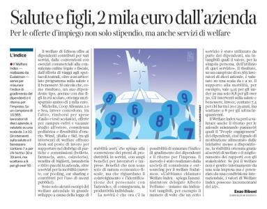 Corriere economia - la misura del Welfare - 3.05.16
