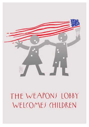 the weapons  lobby welcomes children