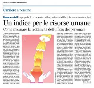 Corriere Economia - 16.11.12 - Investire sulle persone