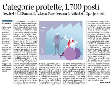 300 - Corriere Economia - categorie protette ; opportunità - 25.06.19 - pp.35