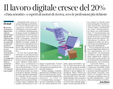 Corriere Economia - nuove professioni digitali - 13.10.15