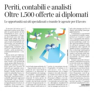 Corriere Economia - assunzioni di diplomati - 11.07.17 - pp.33