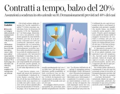 Corriere economia - 11.11.14 - assunzioni a tempo determinato