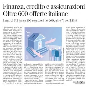 260 - Corriere Economia - assunzioni in banca - 03.07.18 - pp.32