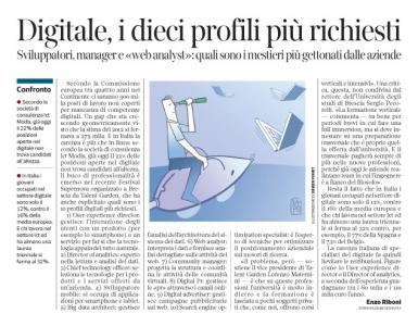 Corriere Economia - In pocchi x nuove profess. digitali - 11.10.16 - pp.33