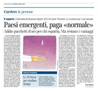 Corriere Economia - 28.02.13 - Anche i paesi emergenti stringono la cintura