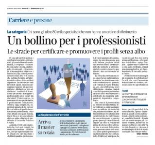 Corriere  Economia -  27.09.13 - professioni certificate