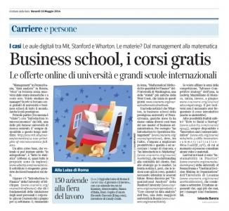 Corriere Economia - 16.05.14 - Corsi on line per managers