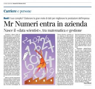 Corriere Economia - 26.10.12 - Aziende, arriva Mr Numeri