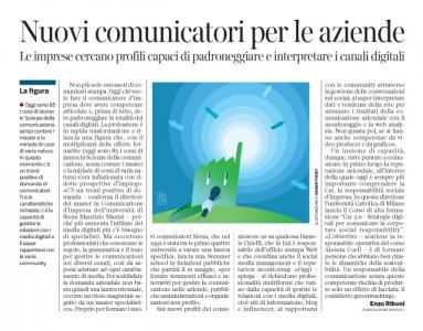 Corriere economia - Comunicatori . sfida digitale - 19.04.16