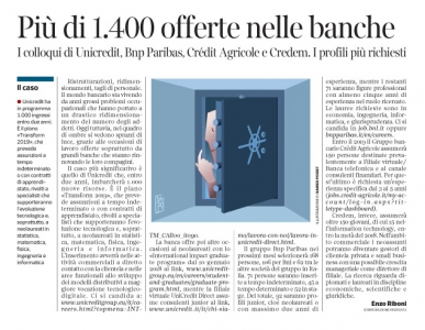 235 - Corriere Economia - assunzioni in banca - 14.11.17 - pp.31