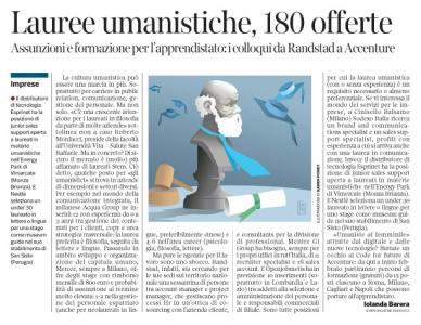 273 - Corriere Economia - assunzioni con laurea umanistica - (Socrate) - 20.11.18 - pp.41