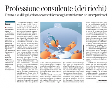 Corriere economia - Curatore di mega richezze - 5.04.16