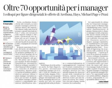 267 - Corriere Economia - assunzioni di dirigenti e managers - 09.10.18 - pp.39