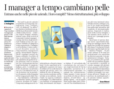 Corriere economia  - temporary manager - 26.01.16 - pp.41