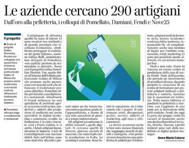 289 - Corriere Economia - talenti per artigianato top-qualità - 02.04.19 - pp. 33