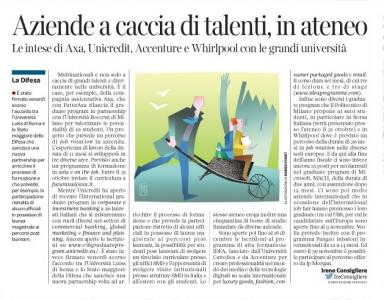 Corriere economia - 28.10.14 - graduate program