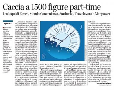 303 - Corriere Economia - Lavoro part-time; opportunità - 16.07.19 - pp.34
