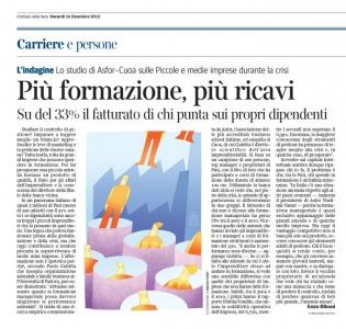 Corriere Eco-14.12.12-il fatturato cresce per aziende che investono in formazione