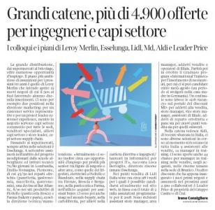 263 - Corriere Economia - assunzioni nella grande distribuzione - 24.07.18 - pp.35