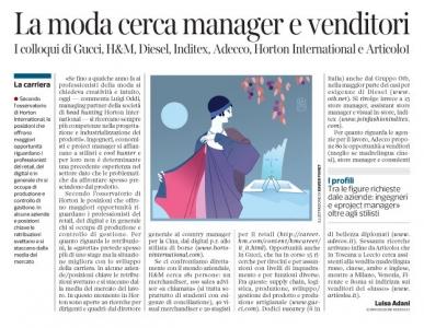 Corriere economia - moda . professioni - ( rivisitazione  di Paul Poiret 1911)  - 31.03.15