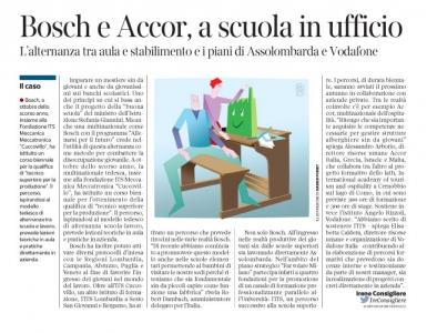 Corriere economia - accordi scuole superiore e aziende- 3.02.15