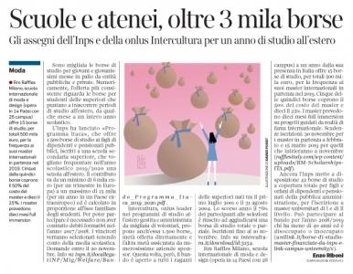 269 - Corriere Economia - Borse di studio, i bandi - 23.10.18 -  pp.39