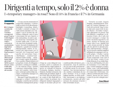 Corriere economia - 16.12.14 - temporary managers a confronto