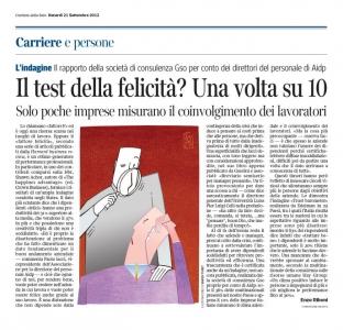 Corriere Economia - 21.09.12 - Il fattore F (felicità)