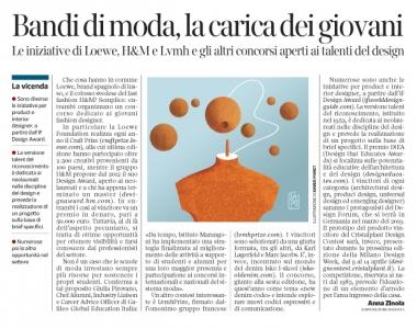 277 - Corriere Economia - giovani, fashion designers . Concorsi - 18.12.18 - pp.39
